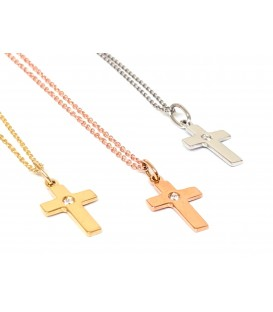 Cruces oro amarillo, blanco y rosa